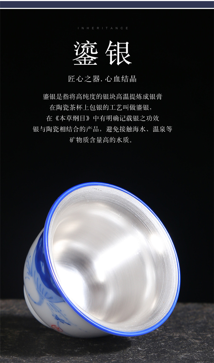 Hand - made porcelain cups of jingdezhen high - end kung fu masters cup personal special sample tea cup only Japanese ceramics