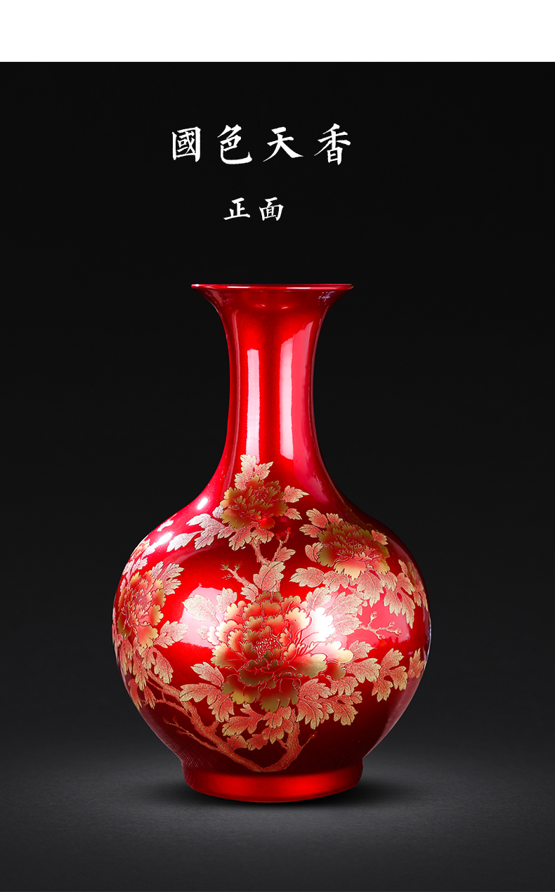 Leon porcelain jingdezhen ceramics, vases, flower arrangement of modern home living room TV cabinet decorative arts and crafts porcelain furnishing articles