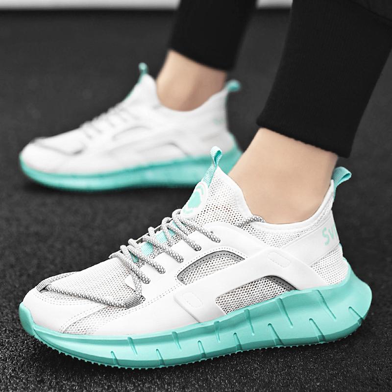 夏季透气飞织椰子鞋网面跑步鞋运动鞋