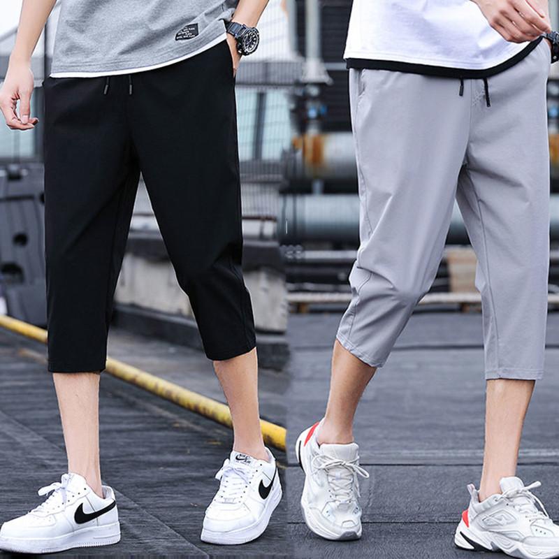男士薄款休闲裤7分裤运动裤大裤衩男裤子