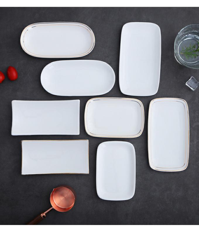 Pure white ceramic towel up phnom penh dish move plate elliptical rectangle towel household wipes in tray towel tray