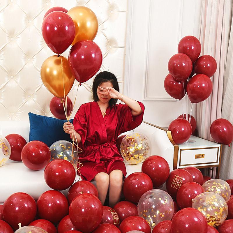 加厚气球婚庆婚房装饰气球