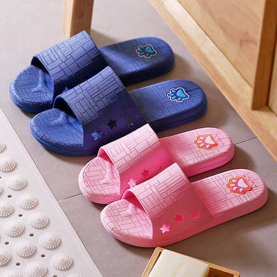 Home sandals and slippers female summer indoor non-slip male home soft bottom bathroom bathing household outdoor slippers couple