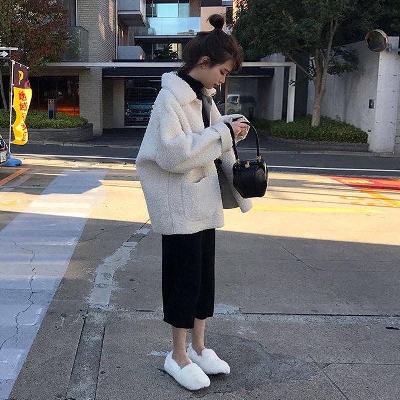 2020新款名媛小香风大码件套春季洋气女装毛胖mm两裙子装连衣羊羔