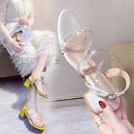 【卡登克旗舰店】女士仙女风凉鞋韩版粗跟单鞋休闲女鞋