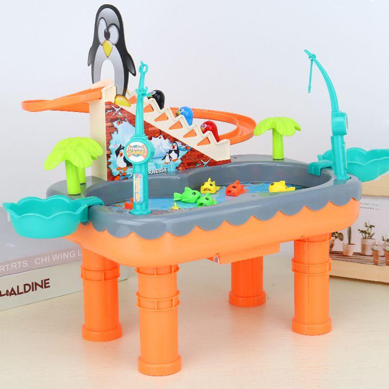 儿童旋转音乐钓鱼台益智玩具