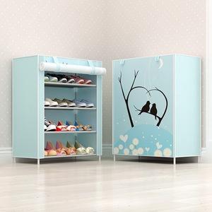 多层全景简易鞋柜鞋架防尘带布罩收纳鞋架多规格可自由拆装