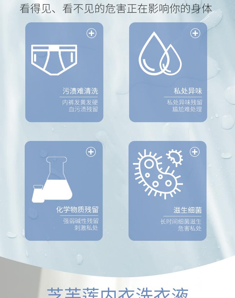 泰国进口芝芙莲内衣裤洗衣液女士洗短裤专用清洗液去血渍抑菌消毒商品详情图