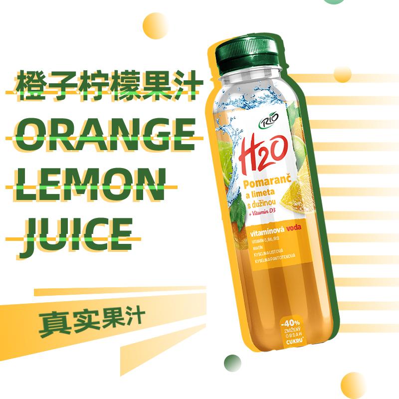 捷克进口,解辣解腻:400mlx6瓶 RIO 果汁气泡水饮料