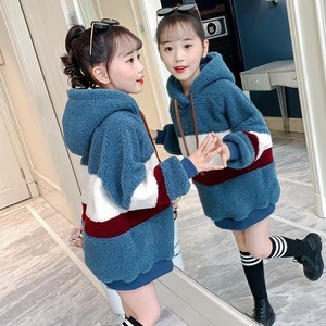 2020秋冬季新款男女童装加绒卫衣洋气加厚外套大款女孩毛衣卫衣