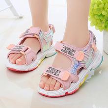 夏季厚底软底沙滩鞋女童鞋