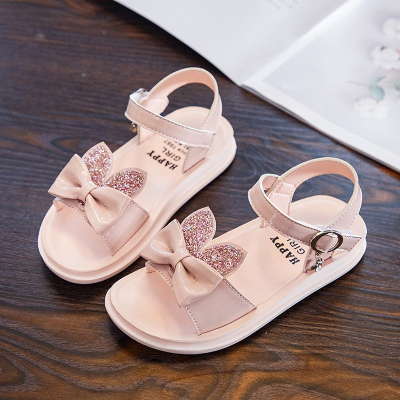 女童凉鞋2020夏季新款中大童儿童时尚鞋子小女孩甜美优雅兔头凉鞋