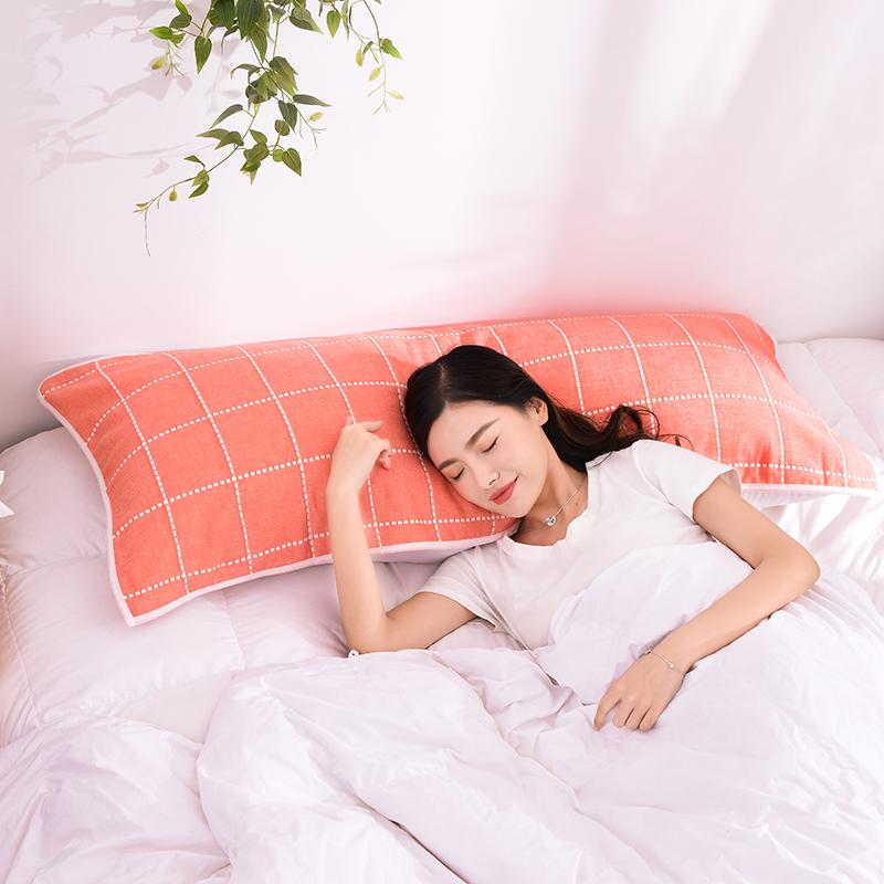 双人枕巾全棉1.2米1.5m加长纱布纯棉枕巾长款双人枕巾1.8米长毛巾