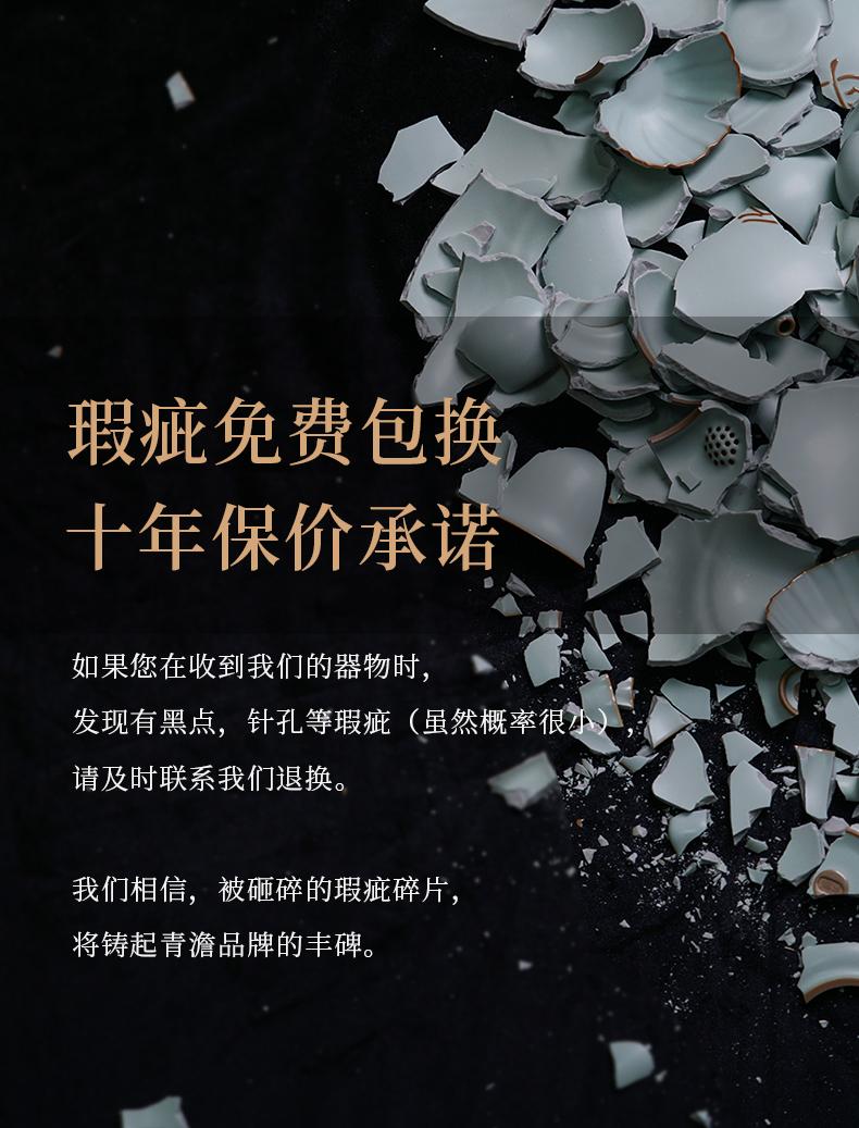 Green has already your up single pot hand flat pot teapot to restore ancient ways your porcelain of jingdezhen ceramics kung fu tea Green home day
