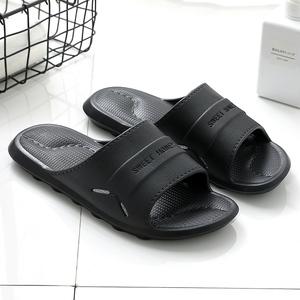 涼拖鞋夏天男士居家用室內防滑浴室洗澡按摩一字拖情侶外穿軟厚底