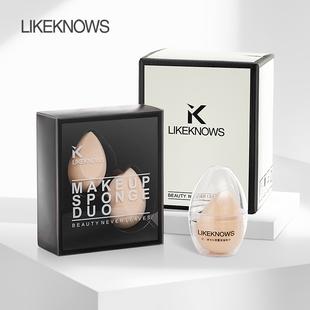 蛋蛋粉撲美妝蛋精美盒裝2個
