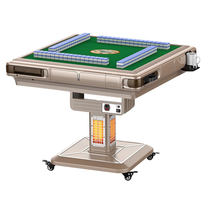 鸿胜麻将机全自动家用四口机麻将桌餐桌两用过山车静音电动折叠式