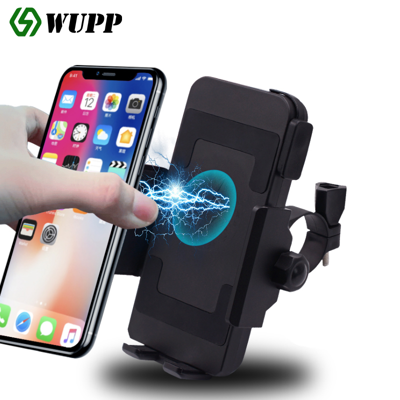 Motorcycle mobile phone navigation bracket Wireless charging with switch Electric car car wireless fast charging mobile phone charger
