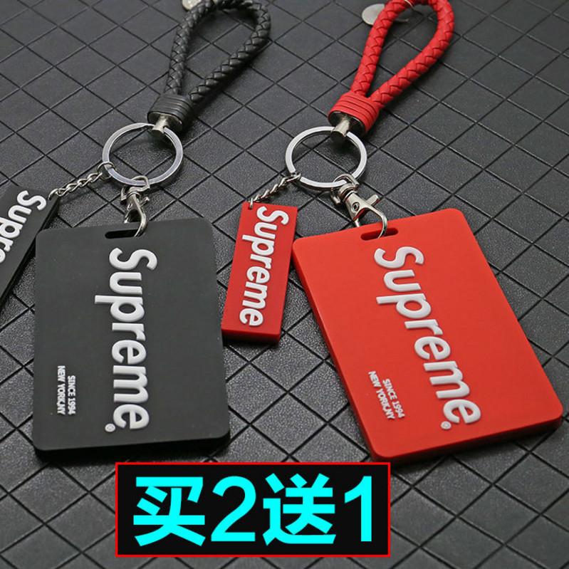 Sáng tạo silicone triều thương hiệu xe buýt thẻ bữa ăn giấy chứng nhận công việc thẻ sinh viên bìa thẻ móc khóa móc khóa nam và nữ bìa bảo vệ - Hộp đựng thẻ