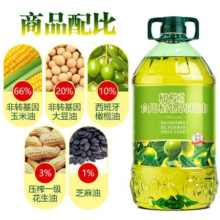 含10%橄欖油:好運花 西班牙進口偶比橄欖油 5L