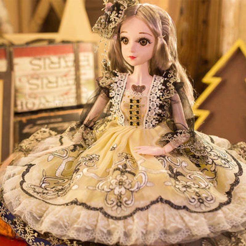 60厘米芭比娃娃套装公主女孩大号洋娃娃生日礼物单个玩具布偶