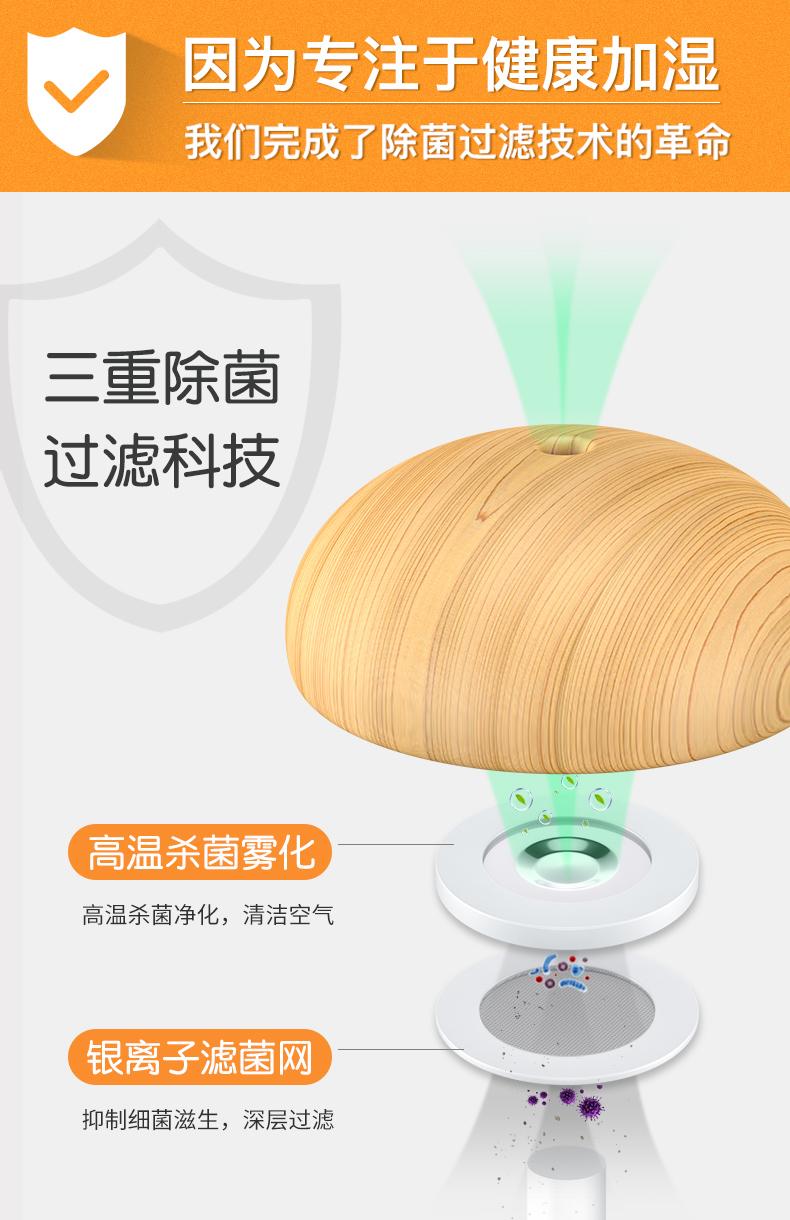 几素蘑菇加湿器迷你创意
