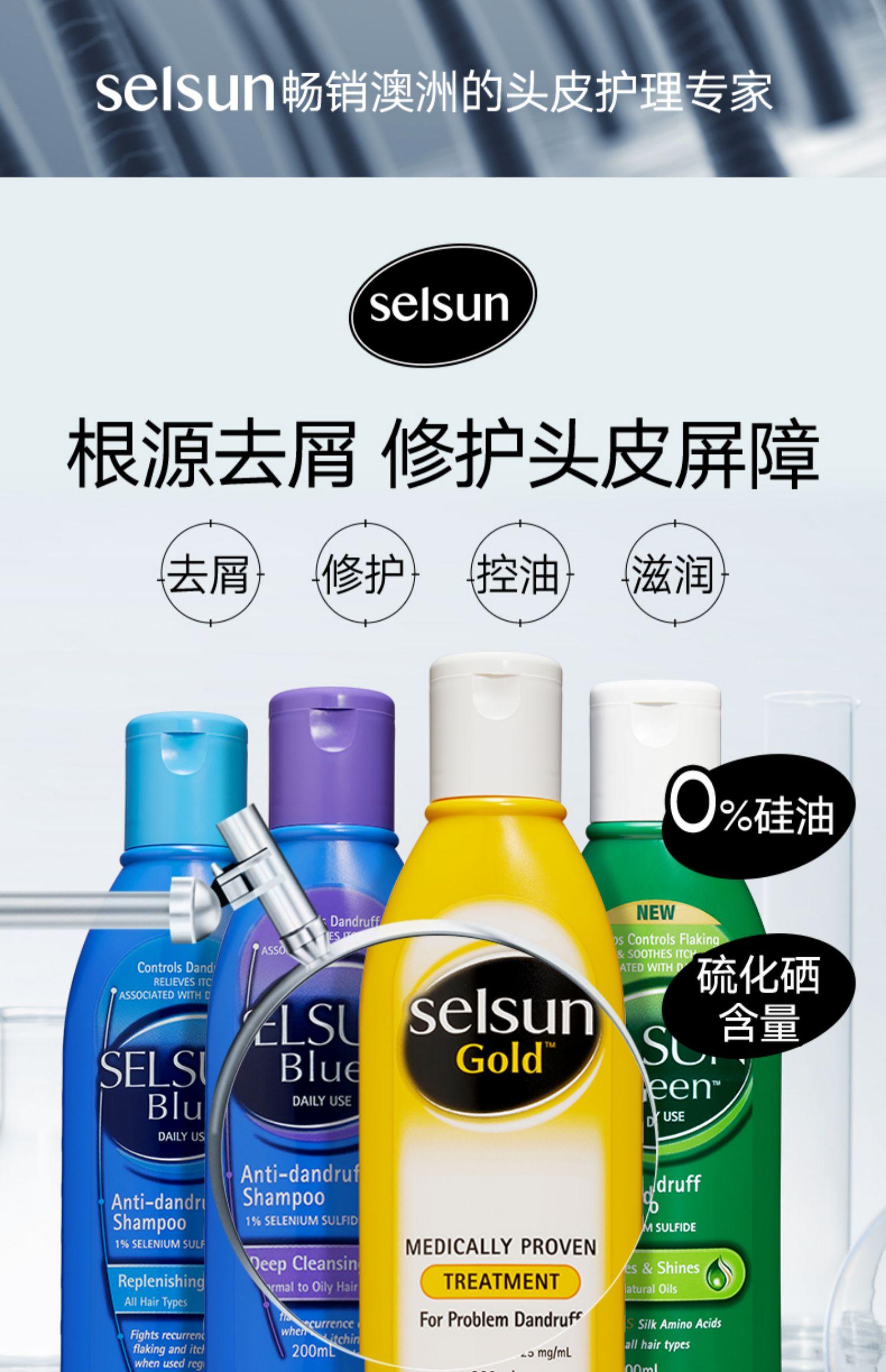 【官方】澳洲进口Selsun洗发水去屑止
