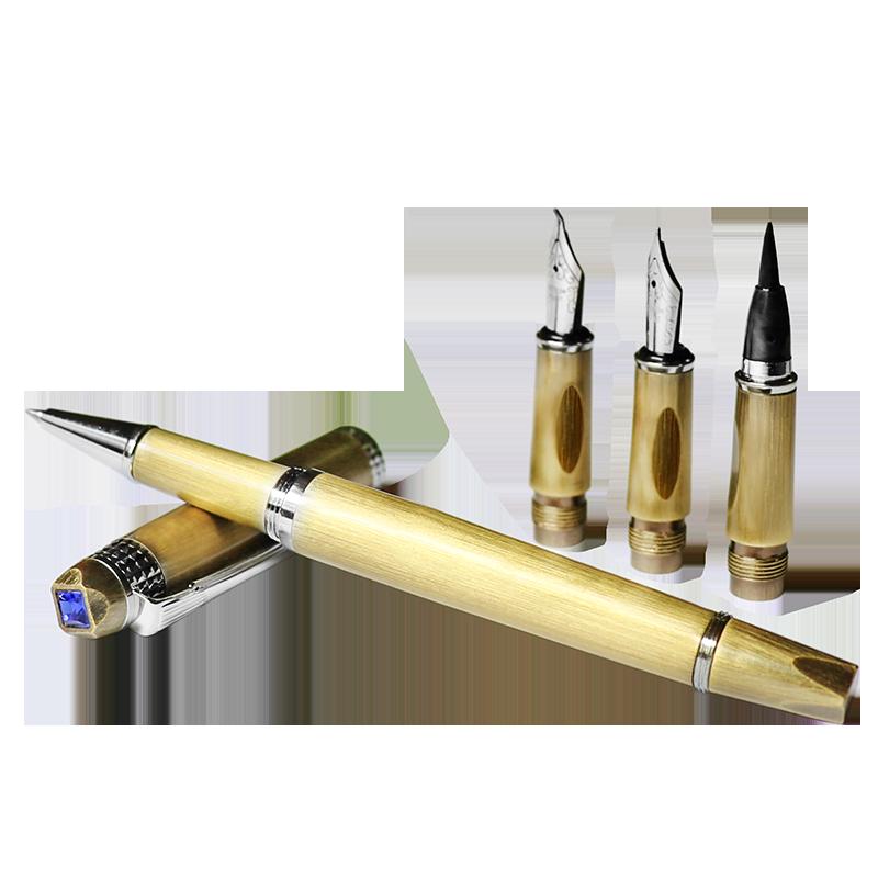 软笔便携式毛笔可加墨狼毫小楷书法笔软头笔自来水笔钢笔礼盒装新_领取30元天猫超市优惠券