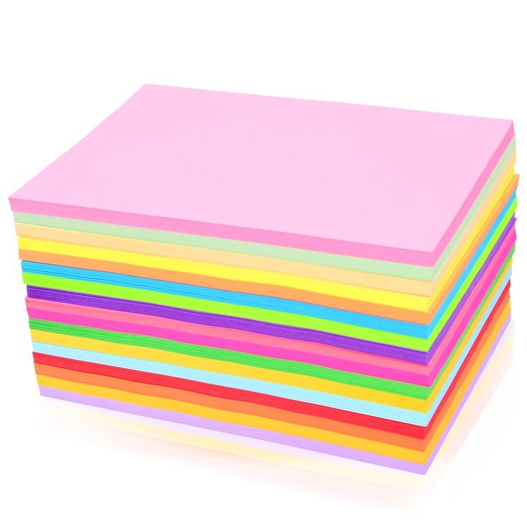 彩色a4纸500张红色粉色混色80g克彩纸黄色混色装打印复印纸a4幼儿园儿童手工混合装蓝色紫色大红纸a4打印纸