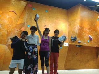 Students enjoy rock climbing experience double
