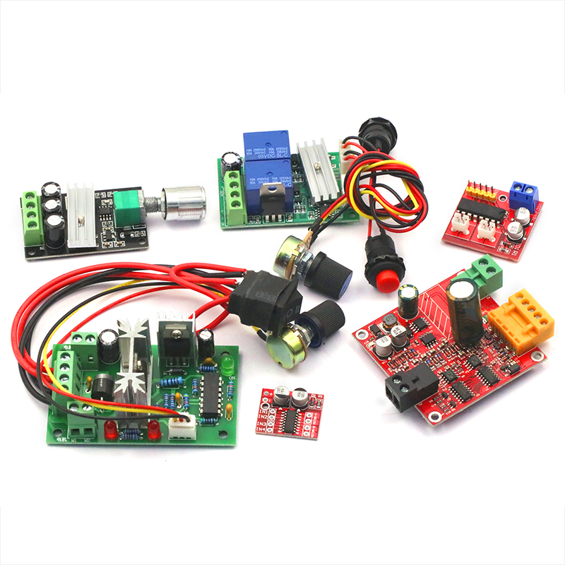 2-way DC motor drive board module Positive and negative motor switch PWM  speed control double H bridge step function circuit