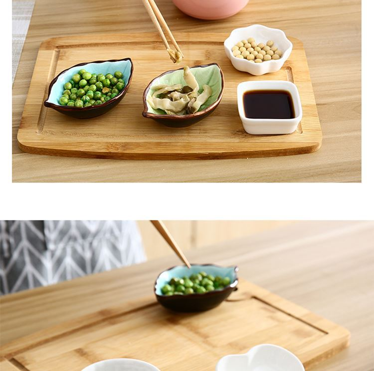 Ceramic dip disc creative vinegar dish of lovely small plate side dish Japanese soy sauce dish of sauce dish flavor dish