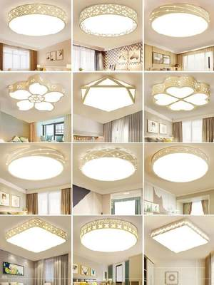 led bedroom lamp ceiling lamp Nordic style 30w guest house sunshine room stepless dimming cloakroom personality hotel iron art