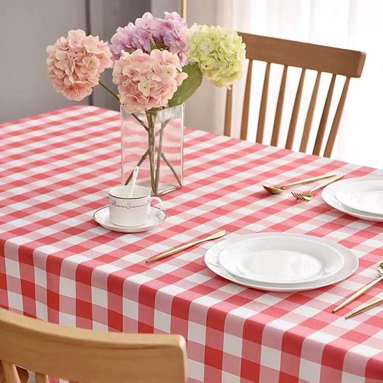 一次性餐桌布塑料加厚桌布喜宴结婚喜字印花家用圆形长方形餐桌布详细照片