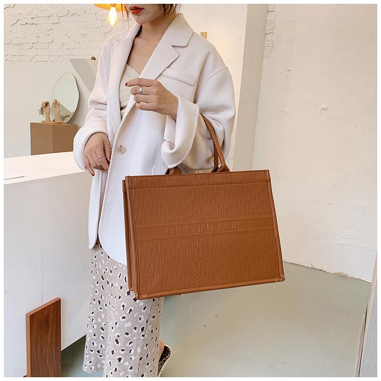 新款质感手提包包女时尚大容量託特包网红单肩包时尚潮牌大包详细照片