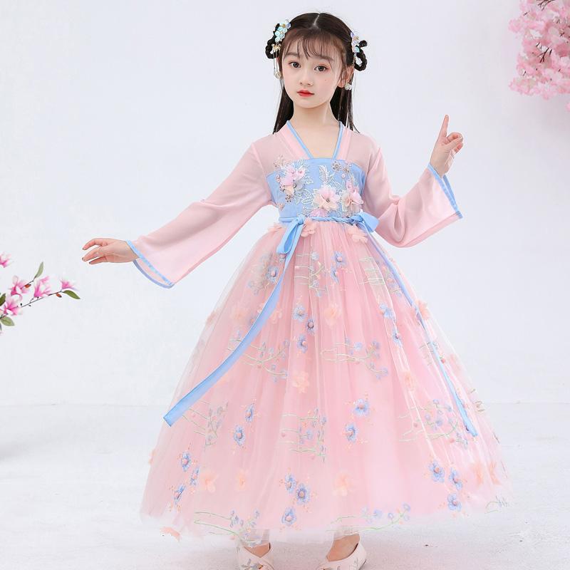 2021新款中国风超仙古装汉服公主裙