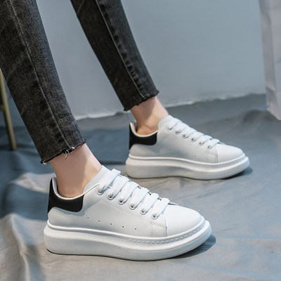 Little white shoes women's autumn/winter 2020 new thick-soled shoes increased and thinner shoes fashion all-match student sports casual shoes women