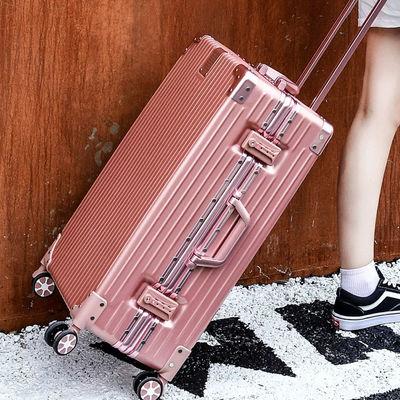 行李箱男女拉杆箱复古箱铝框箱子密码箱万向轮韩版小清新特价箱子