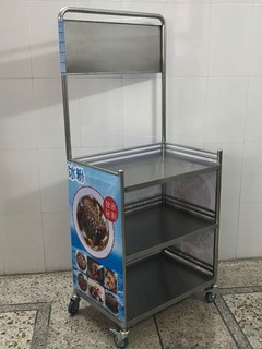 Assemble thickened stainless steel promotional display racks, mobile snack carts, stalls, tasting booths, advertising tables, and push tables