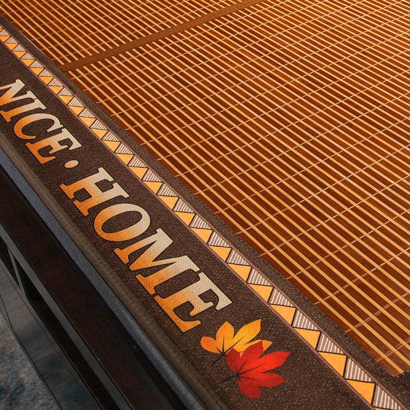 竹席凉席竹子家用夏季草席双面正反两用可折叠冰丝席夏天宿舍席子(【新款好货】~双面提花竹席~送枕套)