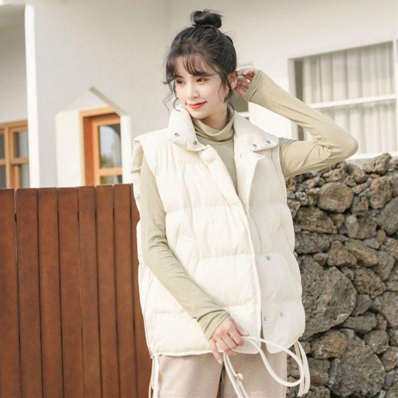 棉衣工装女2020年新款棉服棉袄爆冬季加厚韩版宽松马甲潮外套袄子