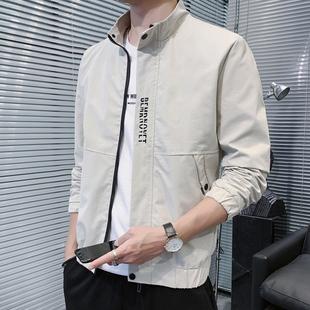 男士春秋季工装服夹克青年外套休闲运动上衣