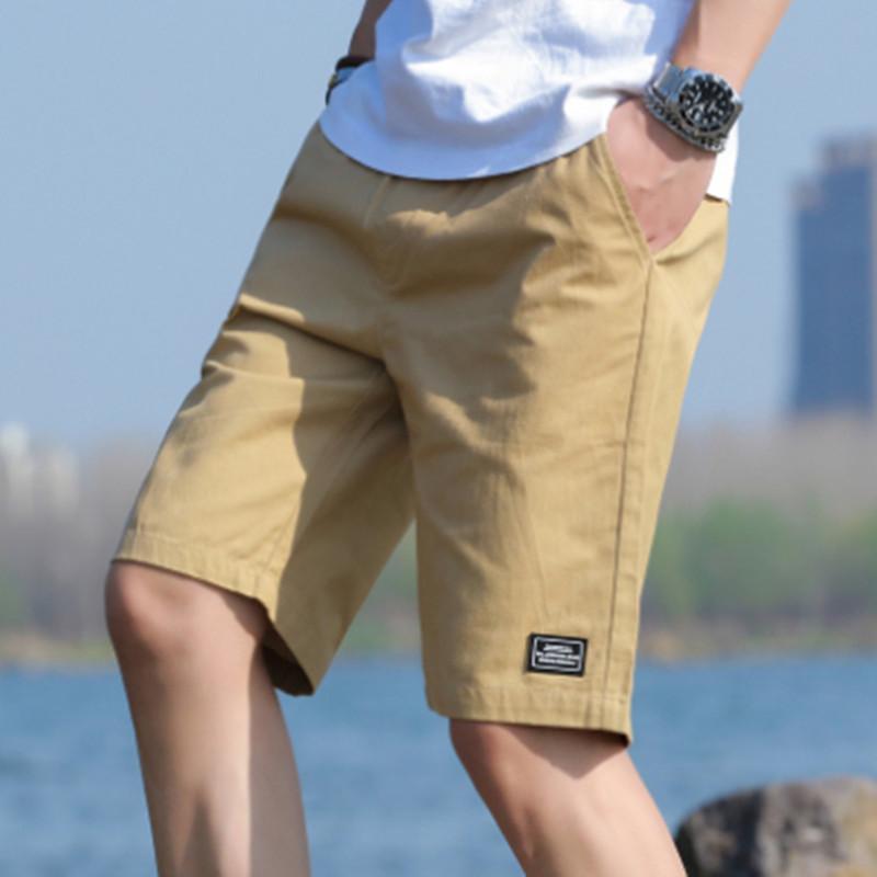 尊川2021男士短裤男五分裤新款宽松透气健身跑步休闲运动裤沙滩裤(男士短裤男五分裤健身跑步休闲运动裤沙滩裤)