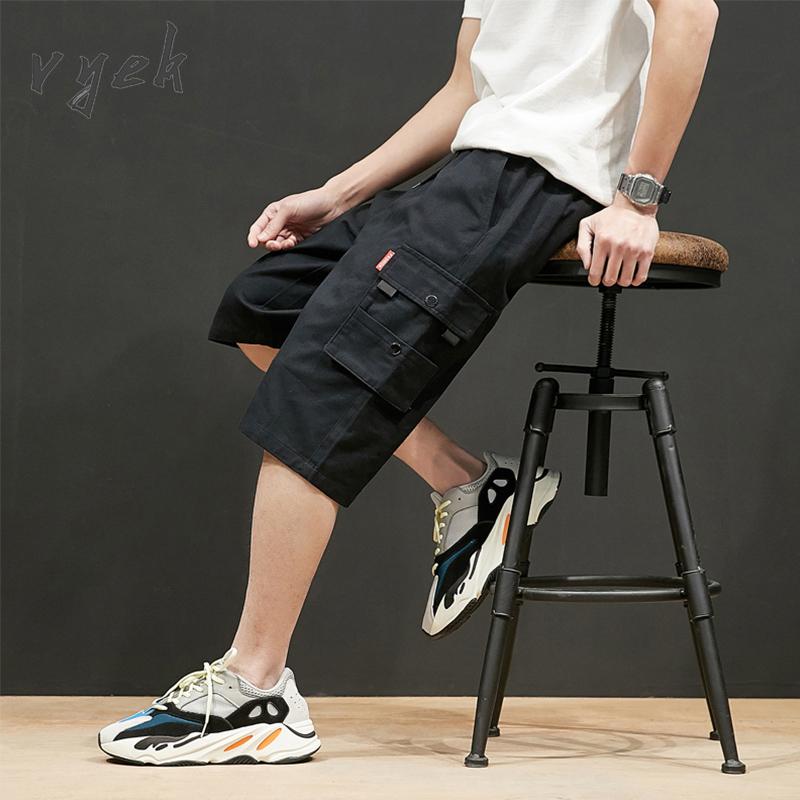 男士夏季短裤宽松七分裤运动大裤衩工装裤
