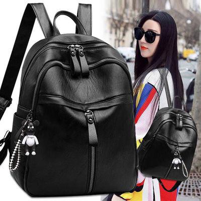 双肩包女士2020年新款背包软皮韩版百搭时尚网红大容量书包学生包