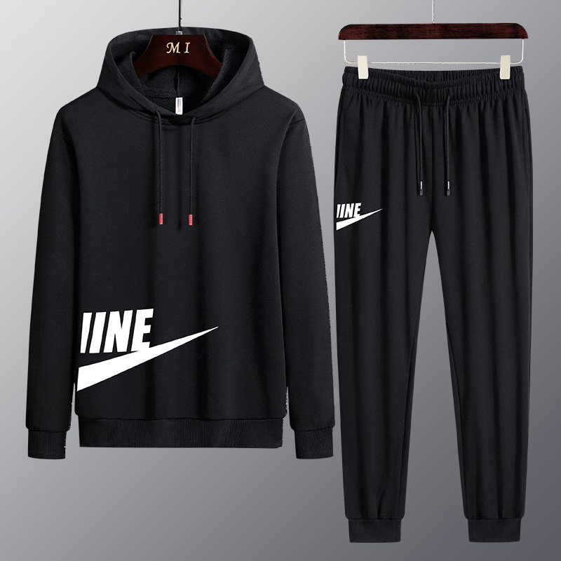 男士运动装青少年套装卫衣运动裤两件套男装