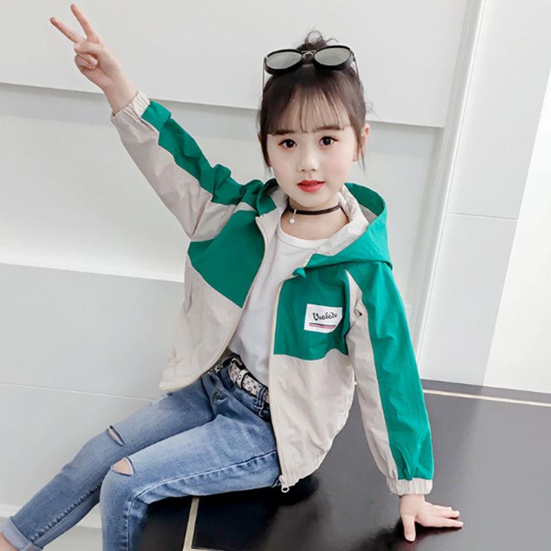 女童秋款外套2020新款中大童秋装夹克韩版洋气时尚童装女童外套