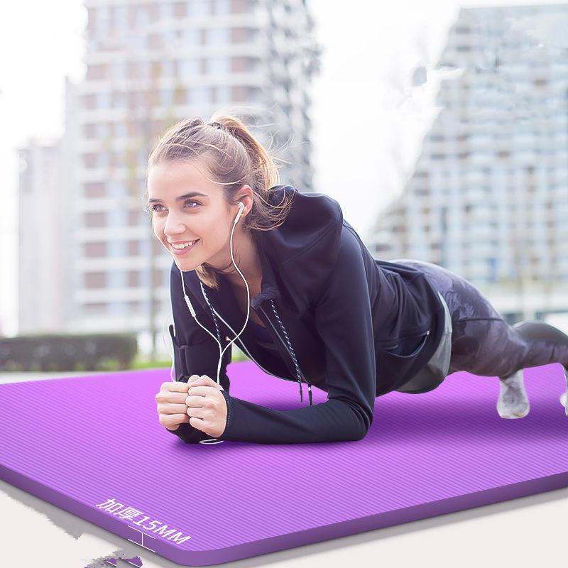居家日用瑜伽垫初学者防滑加长加宽二三件套