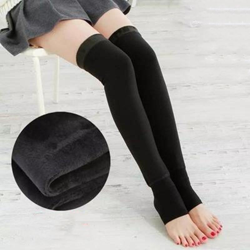 加绒加长过膝长筒袜套加厚保暖护膝秋冬男女士护腿袜套长◆护腿套