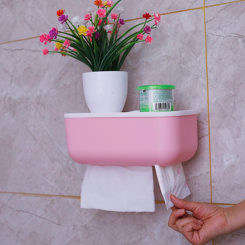 卫生间免打孔纸巾盒置物架